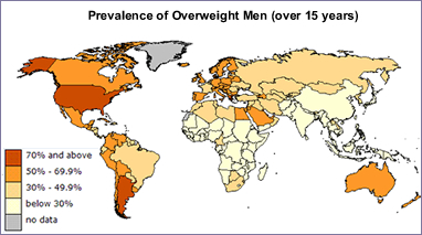 Patient Navigator Physical Aspects Of Disease - Map of obesity us